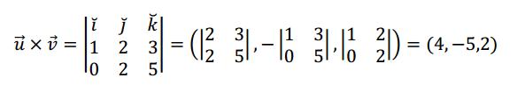 ejemplo producto vectorial