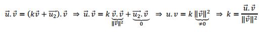 proyeccion de un vector en la direccion de otro