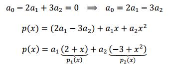 base de un subespacio de polinomios