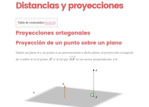distancias y proyecciones