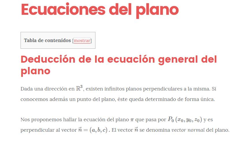 Ecuaciones del Plano: General, Paramétrica, Segmentaria ...
