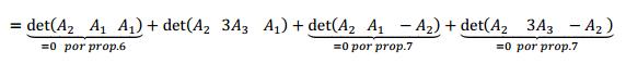 ejemplo determinante matriz