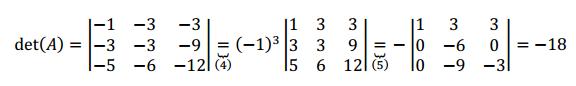 propiedades determinante de una matriz ejemplo