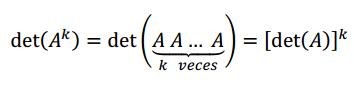 propiedades determinante de una matriz