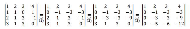 propiedades determinantes ejemplo