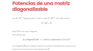 Potencias de una matriz diagonalizable