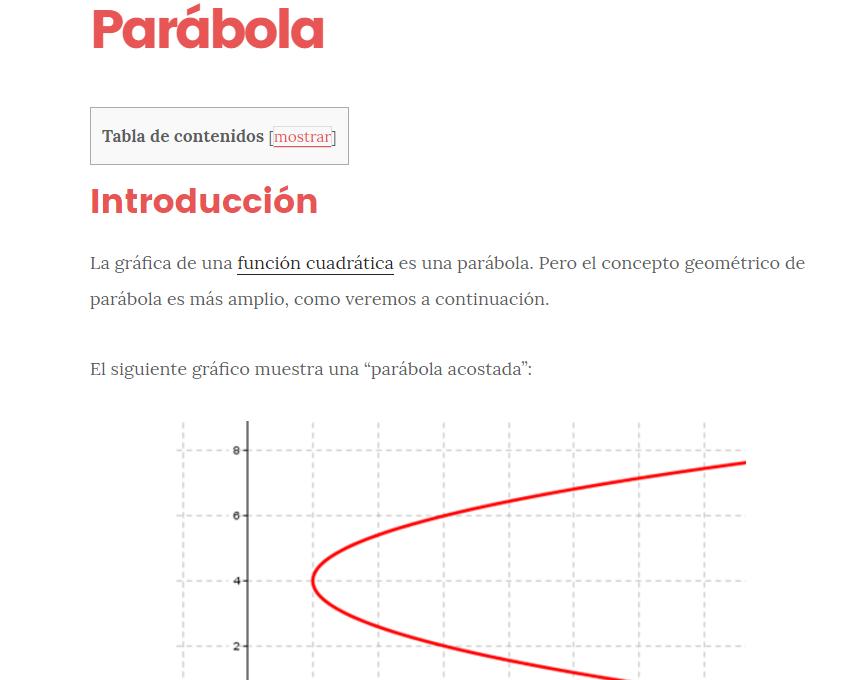 Definicion de parabola lgebra y geometr a anal tica for Origen y definicion de oficina