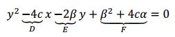 ecuacion general de la parabola