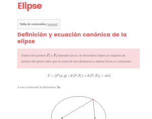 elipse definición