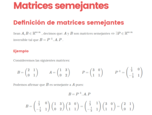 matrices semejantes
