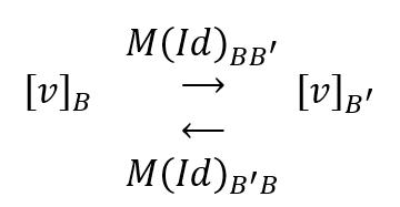 matriz de cambio de base
