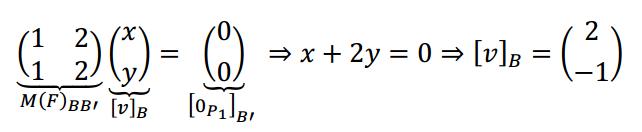 nucleo de una transformacion lineal sin formula