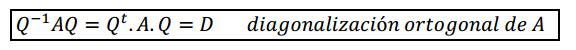 rototraslacion - diagonalizacion ortogonal