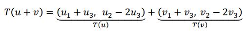 se cumple condicion 1 de transformaciones lineales