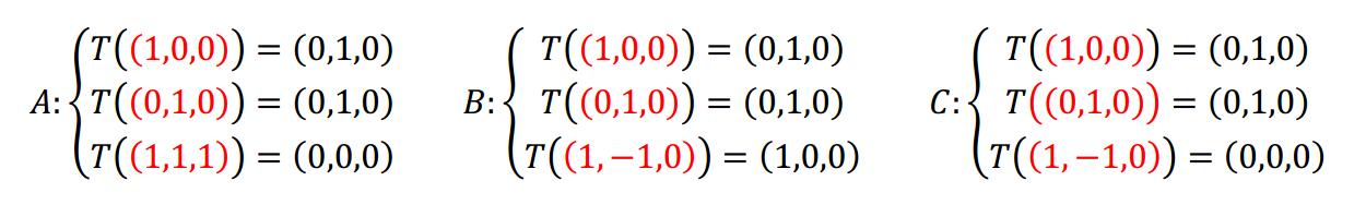 teorema fundamental de las transformaciocnes lineales - ejemplo