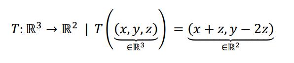 Nucleo e imagen de una transformacion lineal