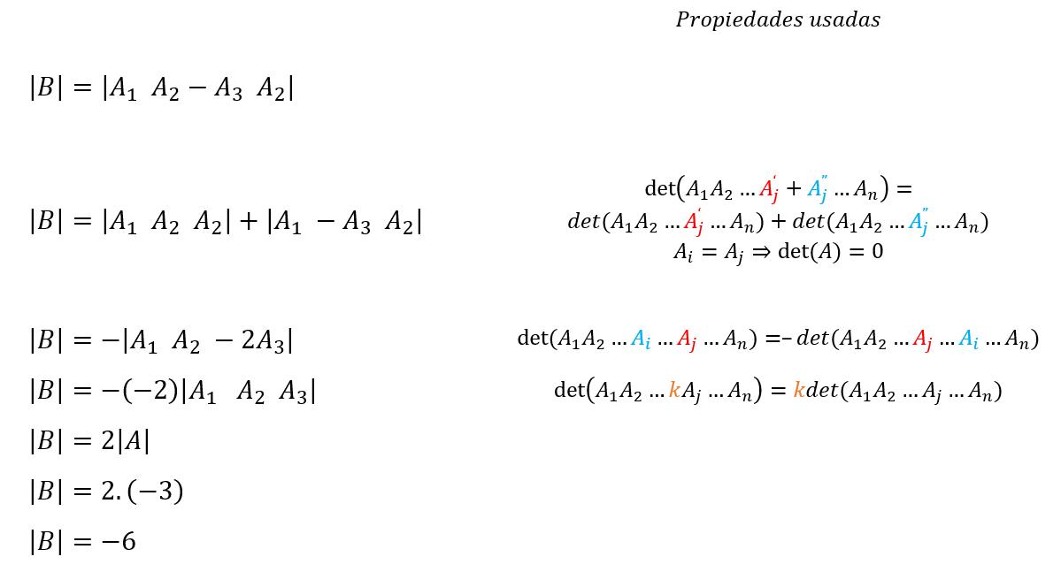 propiedades determinante
